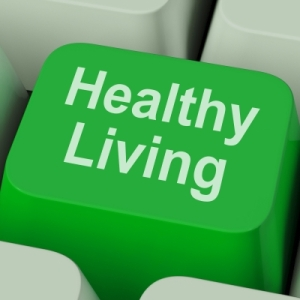 "Healthy Living Key Shows Health Diet And Fitness"" by Stuart Miles"